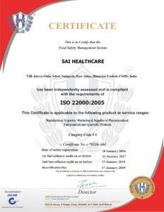 Sai-Healthcare-ISO-22000-2005
